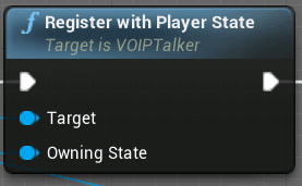 Registering positional voice with the player state