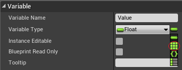 Setting variable to an array type in Unreal Engine 4