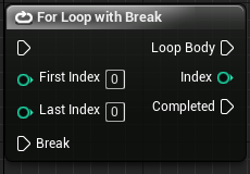 For loop with break