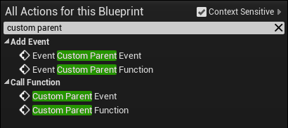 Parent events showing in child class