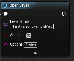 Adding ?listen to the additional settings.