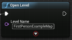 Additional settings when opening the level