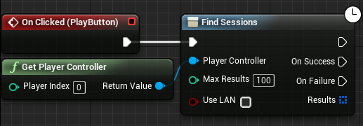 Adding nodes to the Find Sessions node