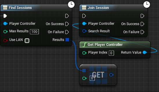 Getting session results from the Find Session node