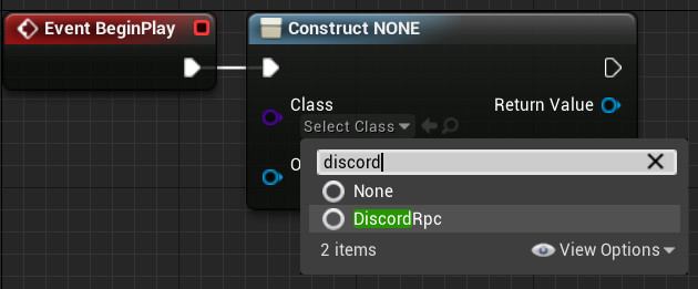 Setting the construct to the DiscordRPC object class