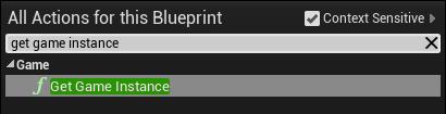 Get the game instance through a blueprint node