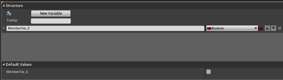 Struct variable menu