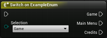 Switch on enum with execution pins