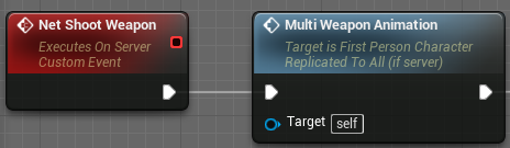 Running the Multi Weapon Animation event from the server to sync all animations and sounds for all clients