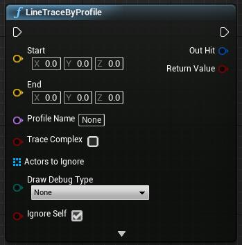 Calculate a line trace by collision profile