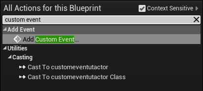 Adding the custom event