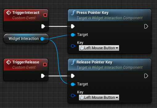 Creating the release pointer key and assigning the left mouse button to the event.
